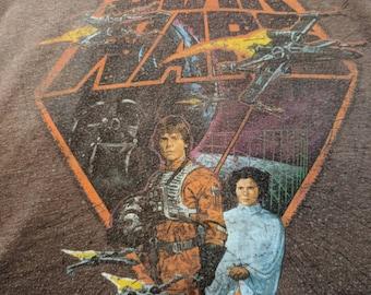 Star Wars Sci Fi Movie Classic Brown T-shirt Size XL
