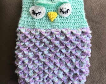 Crocheted Owl Cocoon