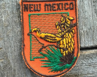 New Mexico Vintage Souvenir Travel Patch by Voyager