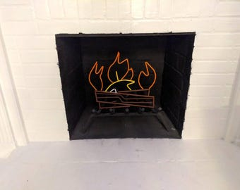 Metal Fireplace Sculpture