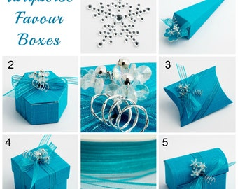 Turquoise Favour Boxes