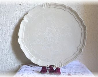 Florentine style tray linen color patina