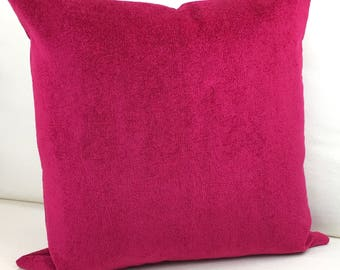 Pink Pillow Cover, Hot Pink Pillow Cover, Home Decor, Pillow Cover, Raspberry Pink Pillow Cover, Accent Cushion, Throw Pillow Cover