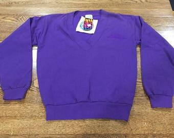 Vintage 90s L.A. LA Gear crew neck sweat shirt. Deadstock, unworn with original tags. Size small. V neck. Rare.