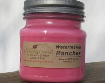 Bougie de soja RANCHER pastèque - pastèque bougies, bougies fruits, bougies de l'été, bougies, bougies de soja parfumées
