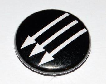 Anti-Fascist Arrows Button Badge 25mm / 1 inch Politics