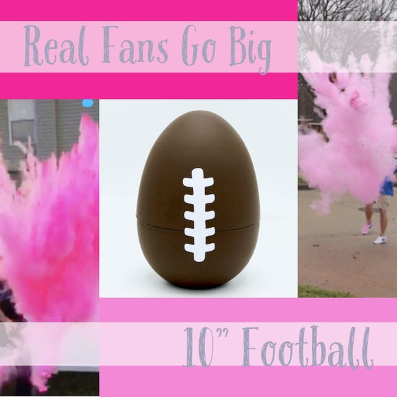 "10"" FOOTBALLS Gender Reveal Football with 8x Powder!!!!"