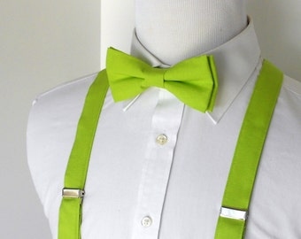 Lime Bowtie and Suspenders - Men, Teen, Youth                                  2 weeks before shipping