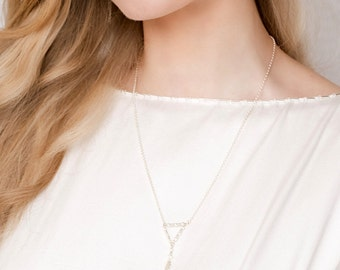 LIMITED 25% OFF Silver Geo Necklace, bridal jewellery