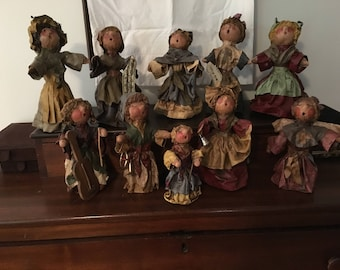 Christmas Figures by Globe Dye Works Fabricated Spun Polyester  from the 1980's