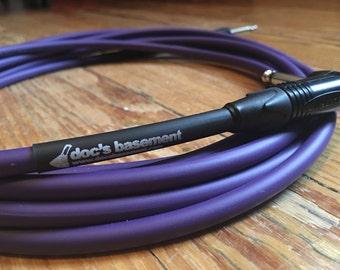 Doc's Basement Studio+ Instrument Cable Purple