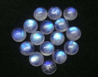 Rainbow Moonstone Round Cabochon Lot,Size-9X9 MM, Blue Flash Moonstone,AAA,Loose Gemstone,Smooth Cabochons.