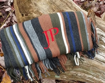 Male Boss Gift, Monogrammed Gifts For Men,  Personalized Scarf, Graduation Gift Ideas Him