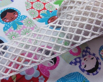 Net Tulle Lace Mesh Ivory Mesh Craft 4.5cm Wide 1yard #