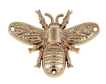 5 Metal Bee Rivets, Gold Toned Insect Rivets,Sew On Bee Embellishment, Studs,Bee Charm