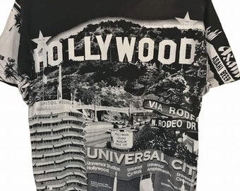 Vintage 90s Hollywood Fullprinted T Shirt