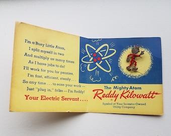 Reddy Kilowatt Lapel Pin on Original Card