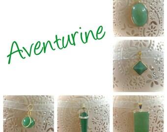 Lucky Aventurine pendant necklace