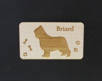 Original Design Briard Dog Wood Magnet
