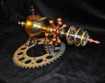 "Ray Gun "" HAND of OSIRIS RAYGUN "" Table Top Steampunk Sci-fi Victorian Industrial"