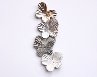 8pcs leather butterfly