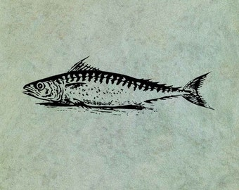 Fish LARGE - Antique Style Clear Stamp