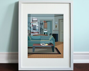 Jerry's Apartment - Seinfeld, Jerry Seinfeld Art Print, TV sitcom