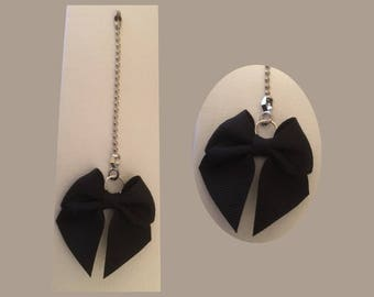 Black Bow Ceiling Fan or Lamp Pull