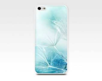dandelion iphone case 6s iphone 6 case abstract iphone case botanical iphone case 5s iphone 5 pastel blue iphone girly case nature iphone