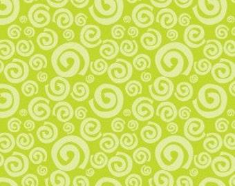 Camelot Fabrics 'Dream a Little Dream' Lime Green Swirls 172