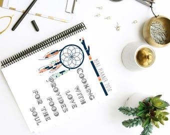 2018 Meal Planner kit - Bundle - Boho Meal Planner - Organized Home - Instant Download - Printable PDF