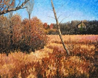 Original Impressionist landscape oil painting 16x20
