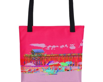 Beach Pier Tote bag