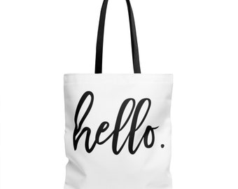 Hello Tote Bag In 3 Sizes
