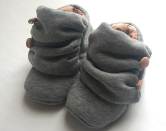 Baby Scuff Booties - organic cotton