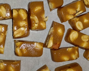 24 CARAMELS Homemade Candy w/ Dry Roasted Peanuts!!!