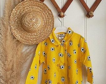 Vintage Cotton Sun Flower Baby Pajamas