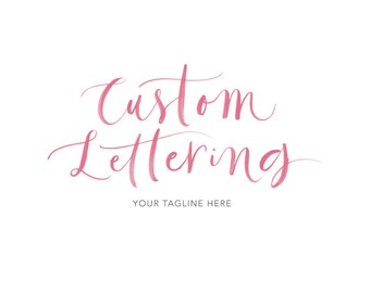 Custom Lettering Logo Hand Painted Ink Calligraphy