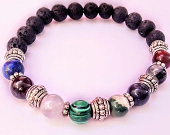 Bracelets with stones beads that make your way of life and lava pearls