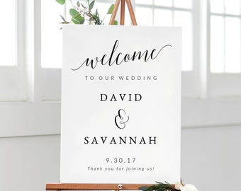 Welcome To Our Wedding Sign Template, Printable Wedding Welcome Sign, Welcome Wedding Template, Welcome Wedding Sign, Wedding Ceremony Sign