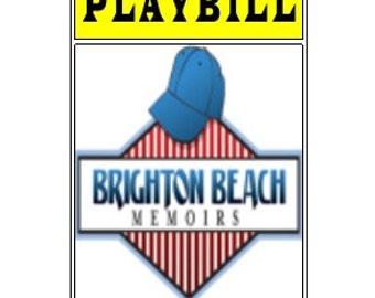 Theater / Show Charm - Playbill Play Bill - Brighton Beach Memoirs
