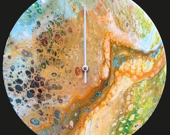 Acrylic 30 cm Wall Clock / Handmade /Unique Designs #4