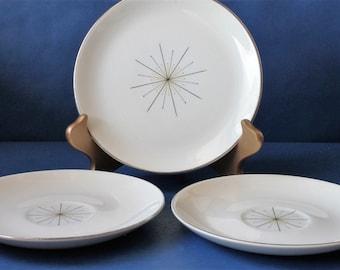 Eames Era MCM Atomic Starburst Modern Star Dinnerware, 1950s Vintage
