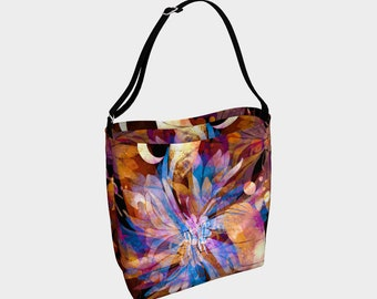 Boho Floral Day Tote Bag, Shoulder Bag, Large Purse, Womens Bag, Gift for Her, Large Bag, Tote, Purse, Colorful