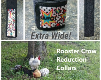 1 Extra Wide Rooster Crow Collar, Comic Book Fight Scene!