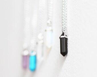 Negro collar de piedras preciosas de chakra de curación