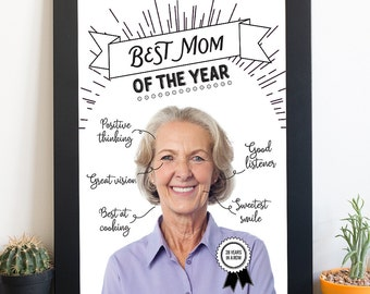 Best mom of the year - Personalized art work for your mom