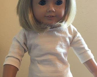 """3/4 Inch Sleeve T fits American Girl and 18"""" dolls"""