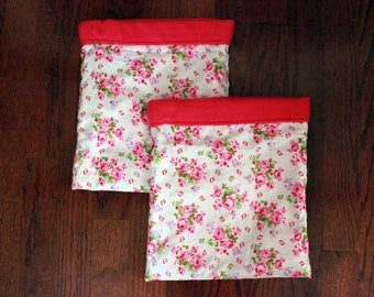 Pink Floral Bouquet - Double Snuggle Sack Set for Small Animals