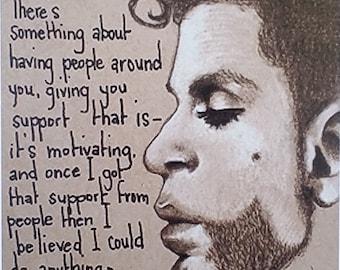 Prince . Prince Art Print. Limited Edition. 8x10 Print . Prince Portrait. Prince Quotes. Purple Rain . Prince Decor . Prince Art . Wall Art